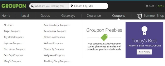Groupon Freebies for Back to School