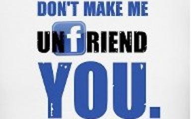 Yeah, I got caught unfriending on Facebook