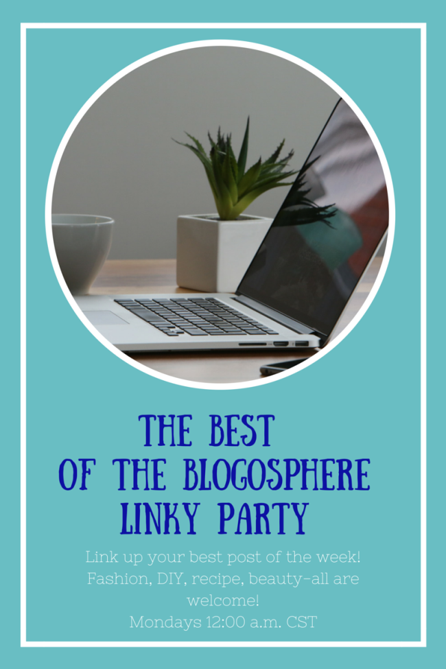 Best of the Blogosphere Linky Party #62