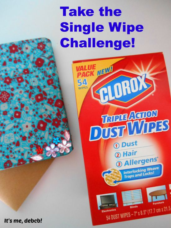 Take the Single Wipe Challenge with Clorox® Triple Action Dust Wipes