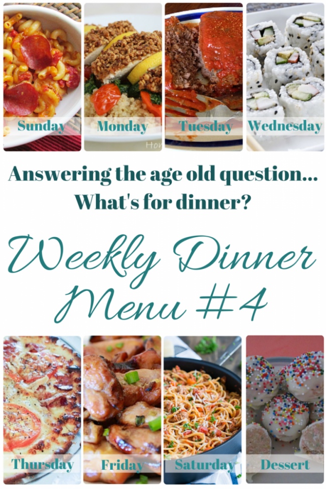 What's for dinner? (Menu 4)
