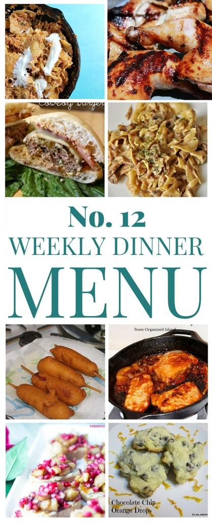 Weekly Dinner Menu 12