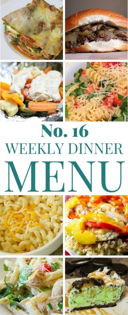 What's for dinner (Menu 16)